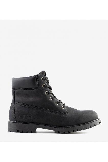 Pánske topánky trapery čierne kód II174263 - GM