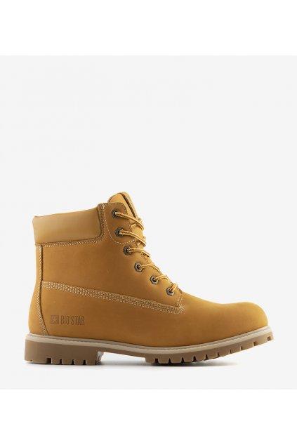 Pánske topánky trapery hnedé kód II174264 - GM