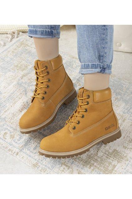 Dámske topánky BS hnedé kód II274447 - GM