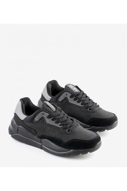 Pánske topánky tenisky čierne kód II174254 - GM