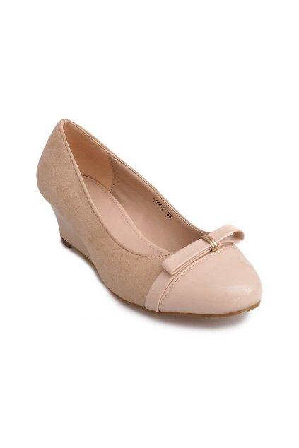 Dámske topánky lodičky béžové kód 50987 - GM