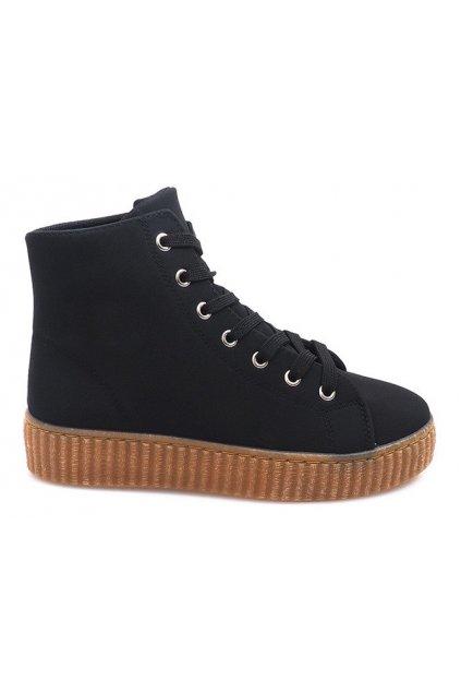 Dámske topánky tenisky čierne kód AM-1103 - GM