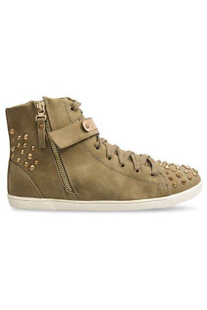 Dámske topánky tenisky hnedé kód G911 KHAKI - GM