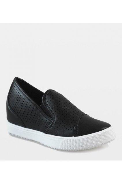 Dámske členkové topánky čierne kód DD441-1 BL - GM