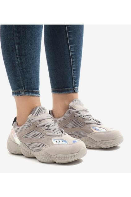 Dámske topánky tenisky sivé kód MS522-26 GREY - GM
