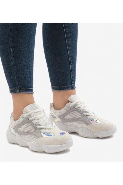 Dámske topánky tenisky biele kód MS522-9 WHITE - GM