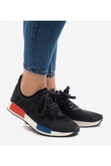 Dámske topánky tenisky čierne kód MD01B-5 BL/WHITE - GM
