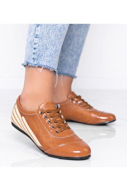 Dámske topánky mokasíny hnedé kód 028-1 Y.BROWN 028-1 - GM