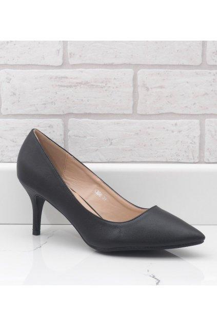 Dámske topánky lodičky čierne kód K308 BL - GM