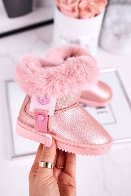Detské snehule farba ružová kód obuvi LD27/LD28 PINK