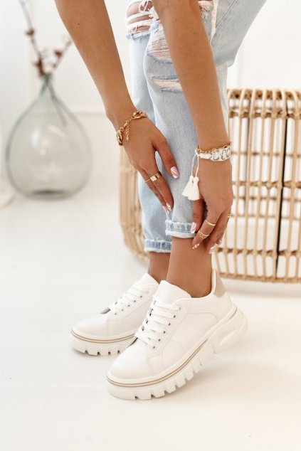 Dámske tenisky farba biela kód obuvi NB382P BEIGE