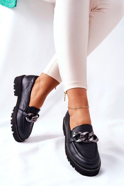 Dámske poltopánky farba čierna kód obuvi 2686/056 BLACK