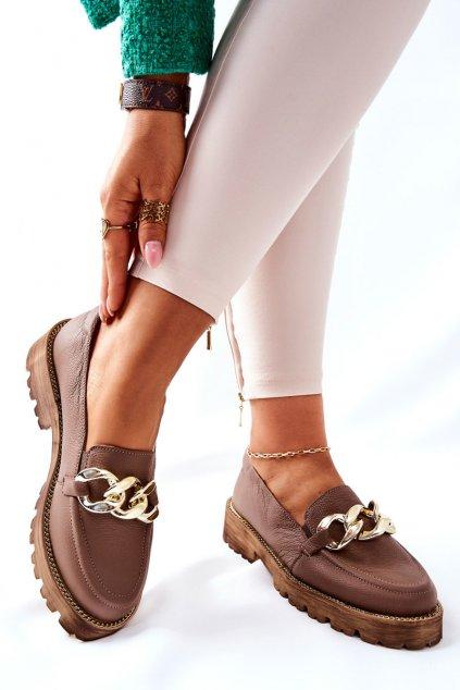 Dámske poltopánky farba hnedá kód obuvi 2686/055 BROWN
