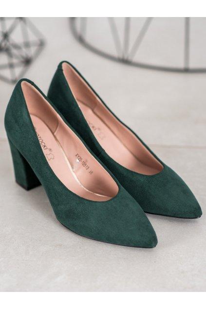 Zelené dámske lodičky W. potocki kod XY20-10513GR