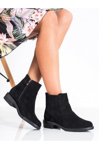 Čierne dámske topánky Shelovet kod E2213B