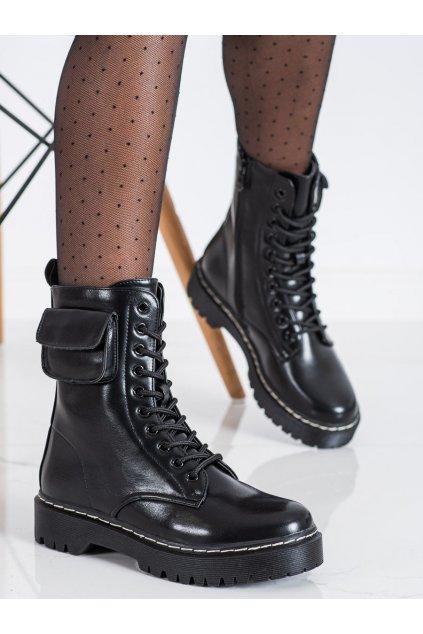 Čierne dámske topánky Vinceza kod HX22-16292B