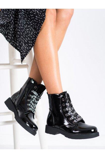 Čierne dámske topánky Vinceza kod HX22-16253B