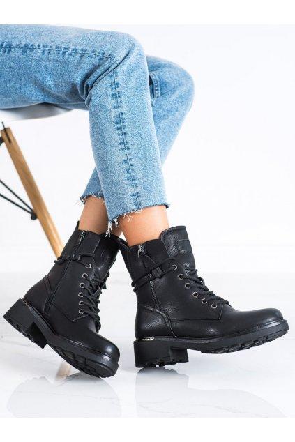 Čierne dámske topánky Evento kod