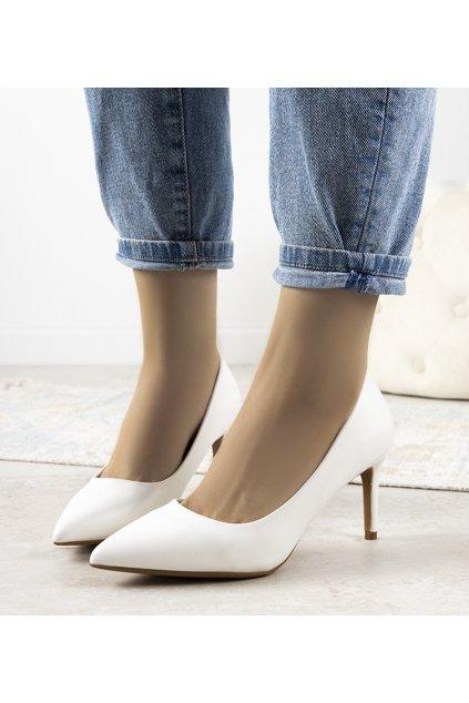 Dámske topánky lodičky biele kód CD62P - GM