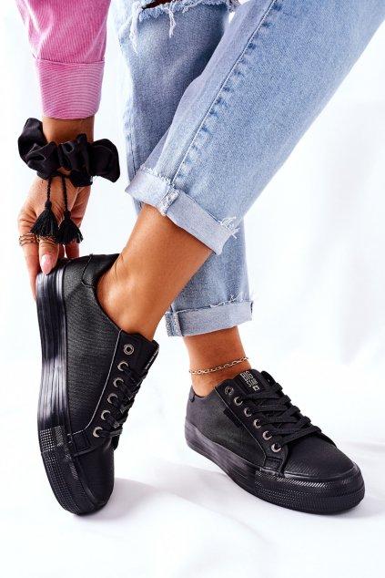 Dámske tenisky farba čierna kód obuvi II274345 BLK