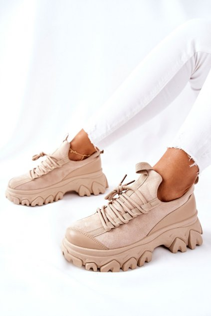 Dámske tenisky farba hnedá kód obuvi NB520 KHAKI