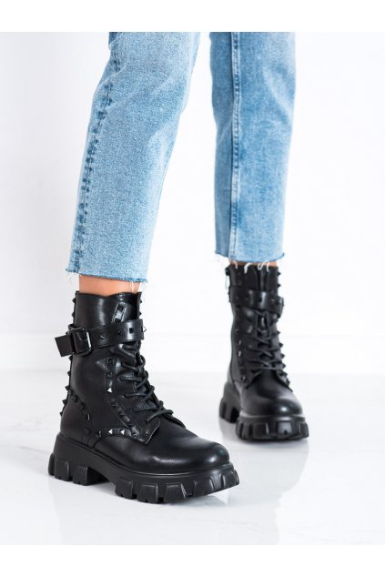 Čierne dámske topánky Erynn kod RJX120B