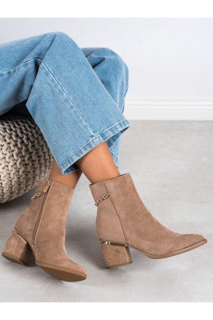 Hnedé dámske topánky Seastar kod NS236LT.KH