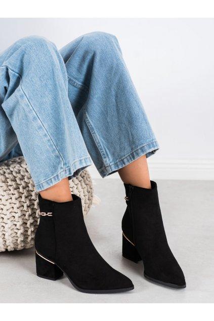 Čierne dámske topánky Seastar kod NS236B