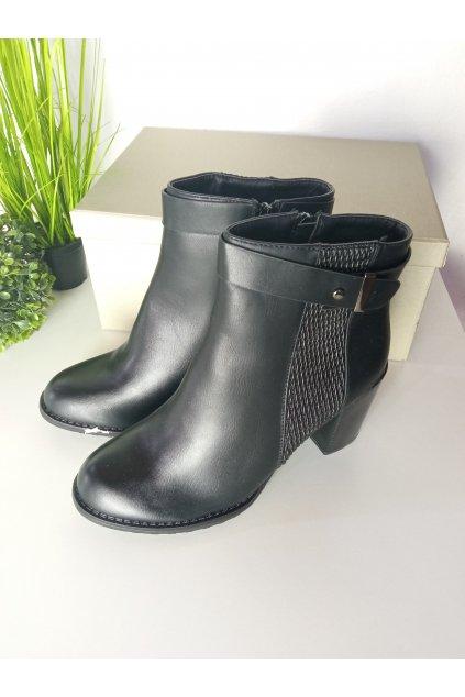 Čierne topánky NJSK Q-6B/S2-5P
