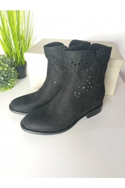 Čierne topánky NJSK CH2008