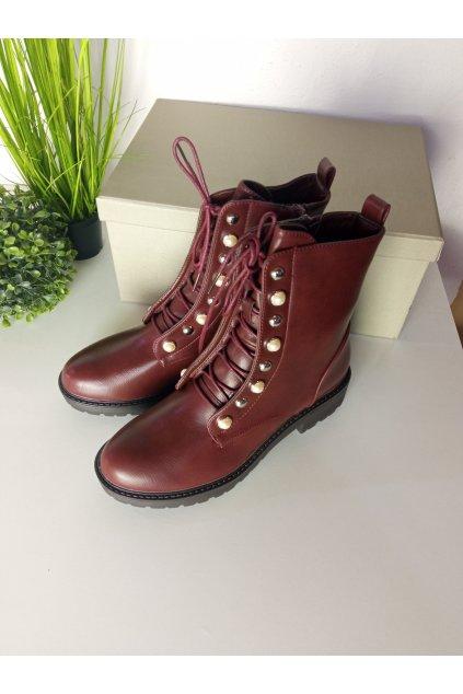 Bordové topánky NJSK BH123-KB