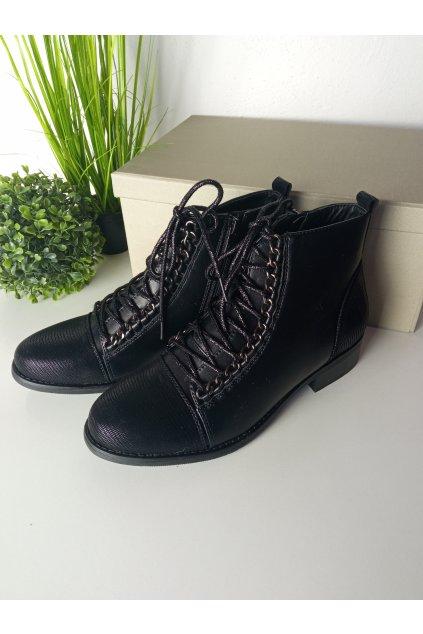 Čierne topánky NJSK H545B