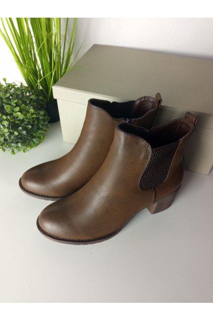 Hnedé topánky NJSK X808BR