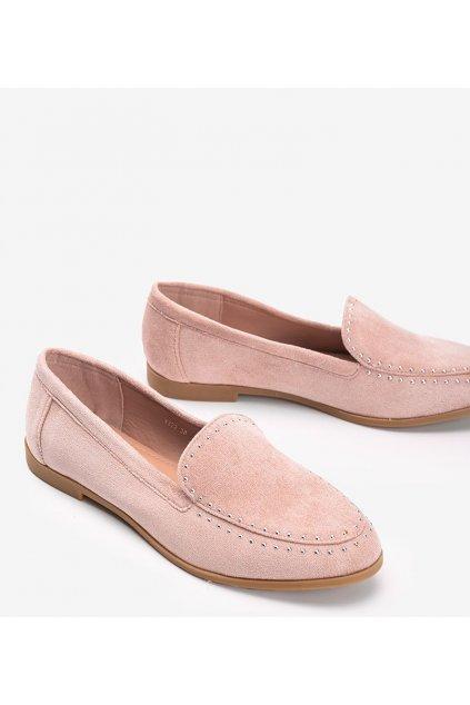 Dámske topánky mokasíny ružové NJSK 4322 - GM
