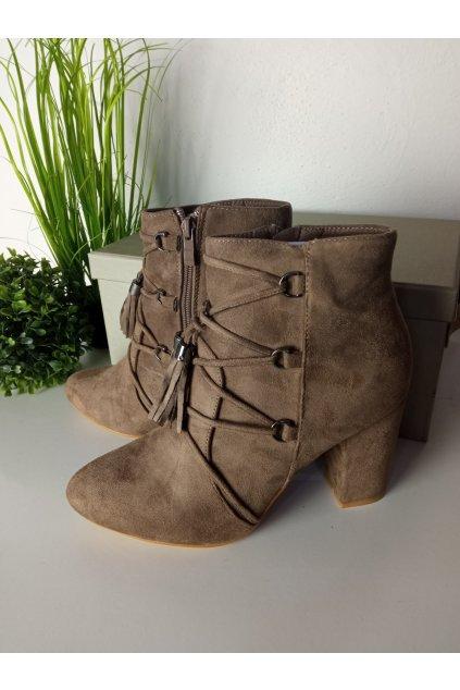 Hnedé topánky NJSK LB-256TA