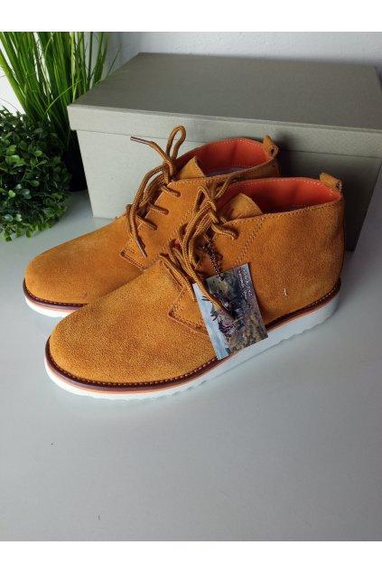 Hnedé členkové topánky NJSK WS1272OR