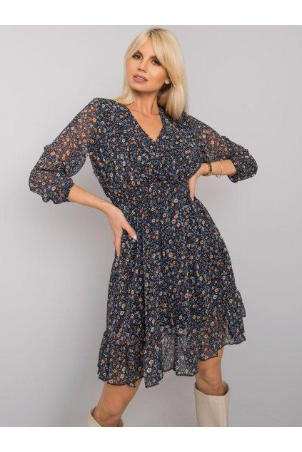 Kvetované šaty s výstrihom kód TO-SK-1409.11