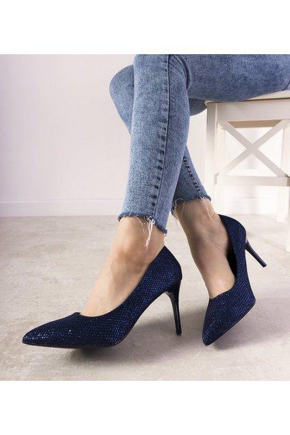 Dámske topánky lodičky modré kód 69579 - GM