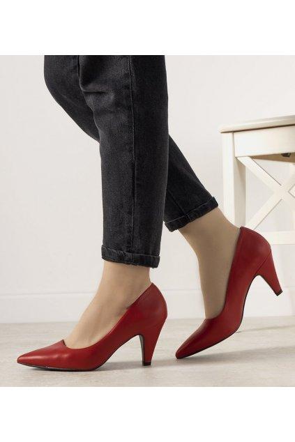 Dámske topánky lodičky červené kód L433 - GM