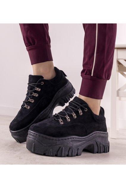 Dámske topánky tenisky čierne kód 6290 - GM
