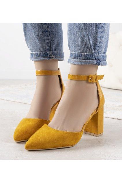Dámske topánky lodičky žlté kód DH06 - GM