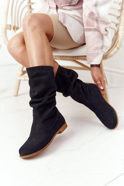 Členkové topánky na podpätku farba čierna kód obuvi 05057-01/00-6 BLK