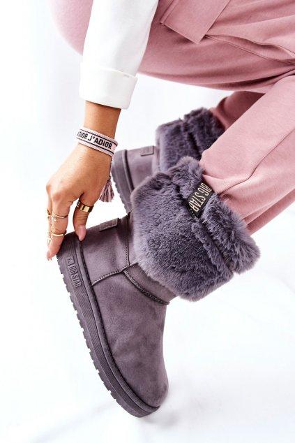 Dámske snehule farba sivá kód obuvi II274128 GREY