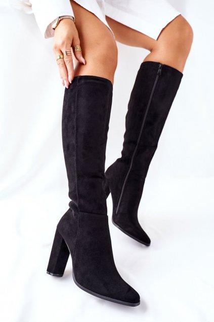 Dámske čižmy farba čierna kód obuvi UK29 BLK