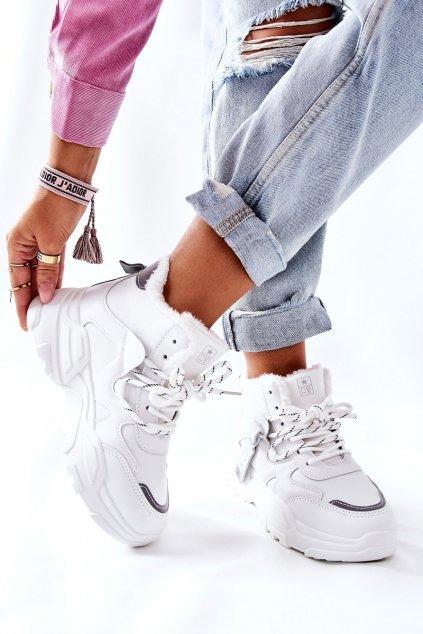 Dámske tenisky farba biela kód obuvi 21BT26-4356 WHT