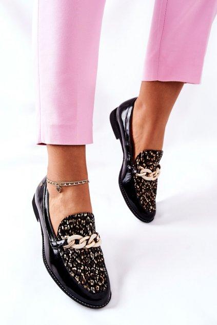 Dámske poltopánky farba čierna kód obuvi 4099B-01/00-1 BLK