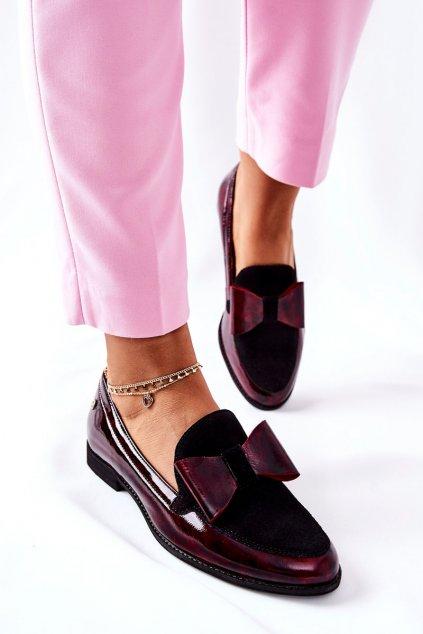 Dámske poltopánky farba čierna kód obuvi 04099-33/00-1 BORDO