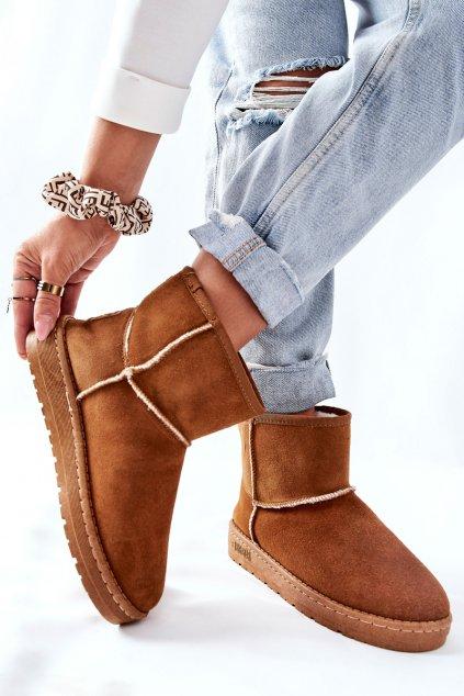 Dámske snehule farba hnedá kód obuvi II274441 CAMEL