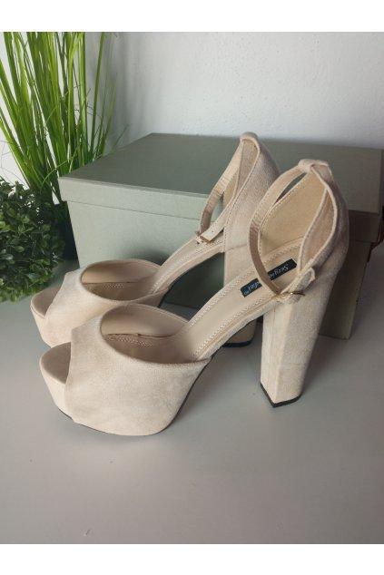 Béžové sandále NJSK XK0029BE