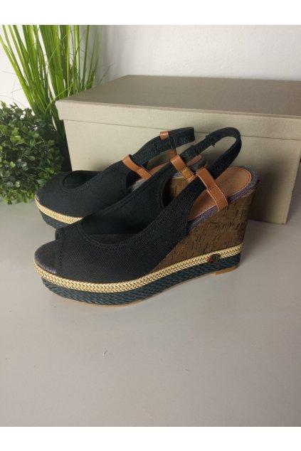 Čierne sandále NJSK HHS015A-2B
